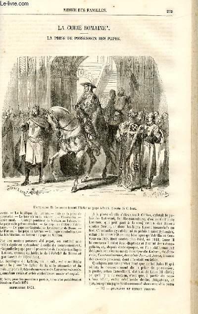 Le musée des familles - lecture du soir -  livraisons n°35 et 36 - La Curie romaine - la prise de possession des papes par Dubarry,suite.