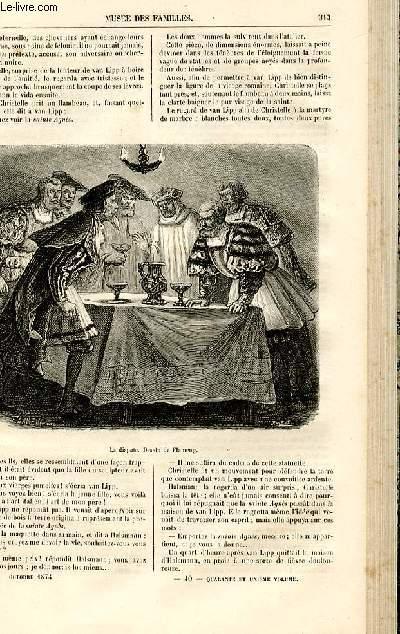 Le musée des familles - lecture du soir -  livraison n°40 - Chroniques du Moyen Age - la fille de l'imagier,suite par De Navery.