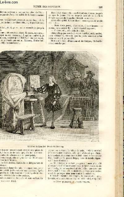 Le musée des familles - lecture du soir -  livraisons n°43 et 44 - Chroniques du Moyen Age - la fille de l'imagier par R. De Navery,suite.