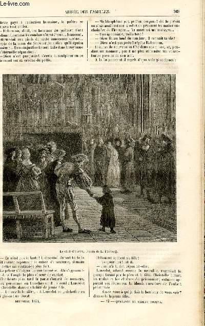 Le musée des familles - lecture du soir -  livraison n°47 - Chroniques du mois - la fille de l'imagier par Raoul de Navery,suite et fin.