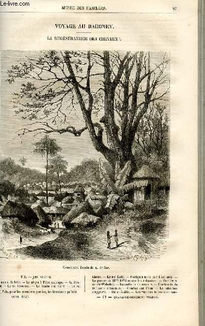 Le musée des familles - lecture du soir -  livraisons n°13 et 14 - Voyage au Dahomey - la régénération des cheveux par Dubarry,suite.