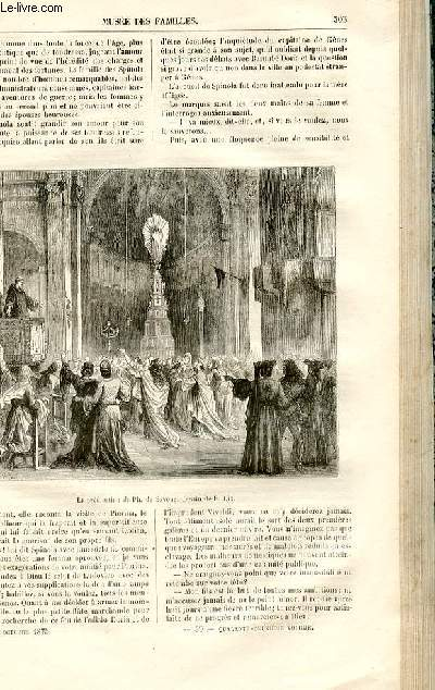 Le musée des familles - lecture du soir -  livraisons n°39 et 40 - Chroniques du Moyen Age - la croisade des dames génoises par R. De Navery,suite.