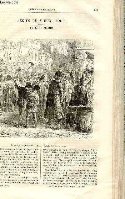 Le musée des familles - lecture du soir -  livraisons n°39 et 40 - Récits du Vieux Temps - Le Lord - Maire par Georges Grand,à suivre.