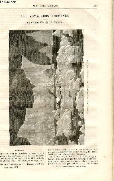 Le musée des familles - lecture du soir -  livraisons n°47 et 48 - Les voyageurs modernes - la Germania et la Hansa par A. De Fleury,suite et fin.