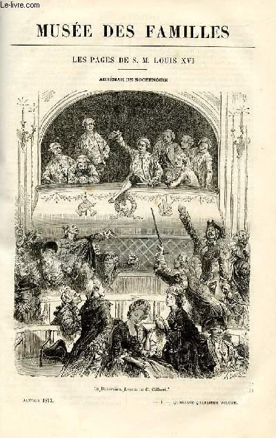 Le musée des familles - lecture du soir -  livraison n°01 - Les pages de S.M. Louis XVI - Adhémar de Rochenoire par A. Genevay,à suivre.