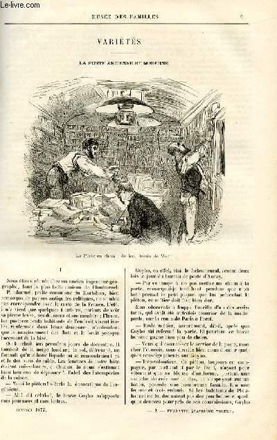 Le musée des familles - lecture du soir -  livraison n°02 - Variétés - La poste ancienne et moderne par A. Challamel,à suivre.