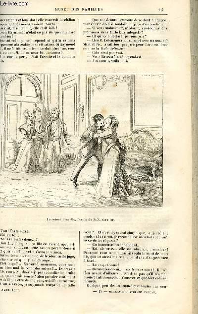 Le musée des familles - lecture du soir -  livraisons n°15 et 16 - Etudes morales - La Belle Arthémise  par P. Célières,suite et fin.