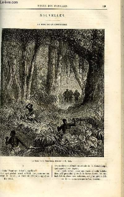 Le musée des familles - lecture du soir -  livraisons n°17 et 18 - Nouvelles - Le bois de la Soufrière par Anaïs Ségalas,à suivre.