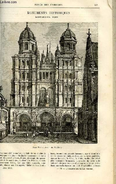 Le musée des familles - lecture du soir -  livraisons n°21 et 22 - Monuments historiques : Saint Michel à Dijon par Genevay.