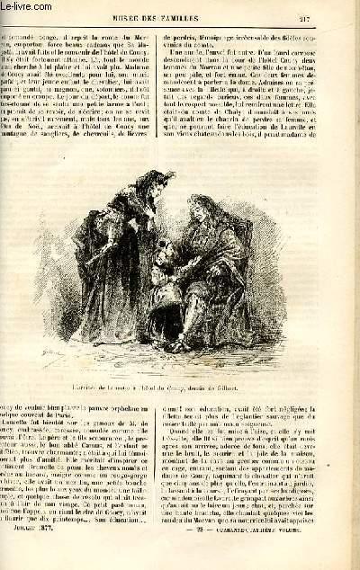 Le musée des familles - lecture du soir -  livraison n°28 - Les deux Coucy,suite par Genevay.