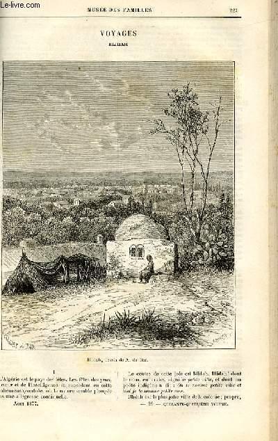 Le musée des familles - lecture du soir -  livraisons n°29 et 30 - Voyages - Blidah par Andreï.