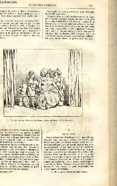 Le musée des familles - lecture du soir -  livraison n°36 - Les arts et les artistes - henry Monnier, suite et fin, par Champfleury.