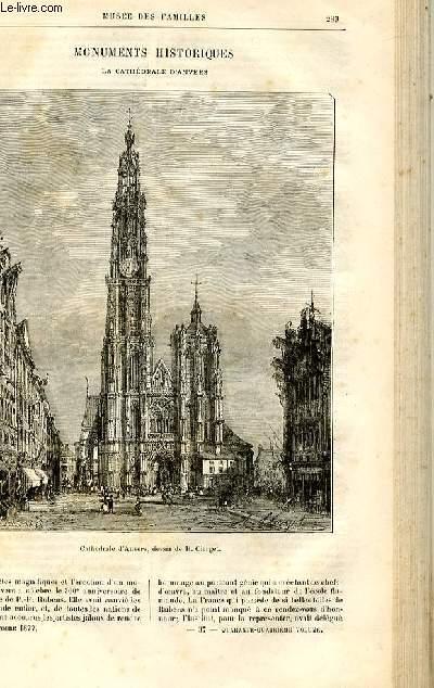 Le musée des familles - lecture du soir -  livraison n°37 - Monuments historiques - la Cathédrâle d'Anvers par Raymond.