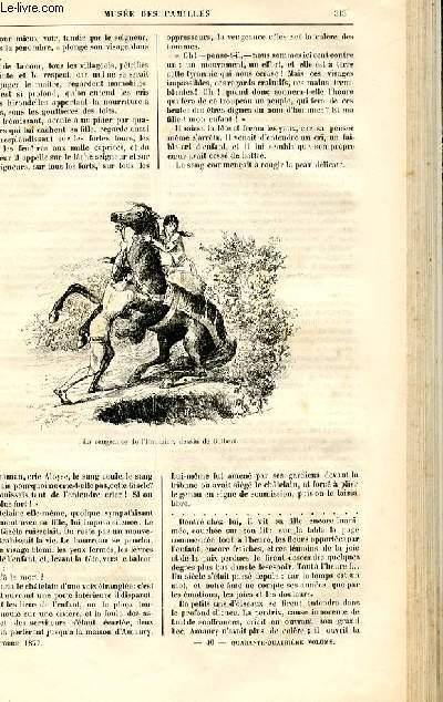 Le musée des familles - lecture du soir -  livraison n°40 - Une histoire du bon vieux temps - l'imaigier par Humbourg,suite et fin.