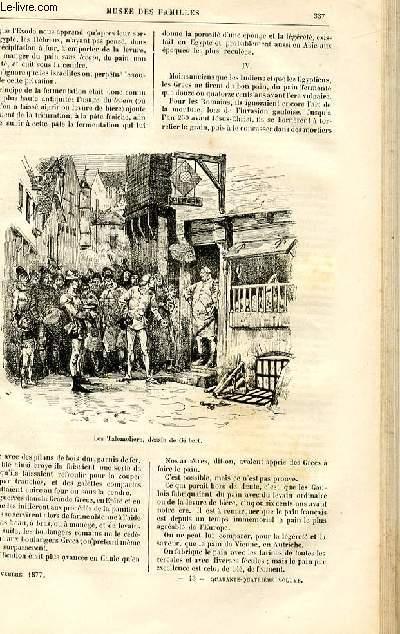 Le musée des familles - lecture du soir -  livraison n°43 - Histoire naturelle - le pain par Duabry,suite et fin.
