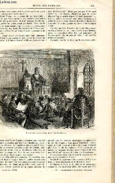 Le musée des familles - lecture du soir -  livraison n°40 - Récits d'autrefois - les étudiants au Moyen Age par Challamel,suite.