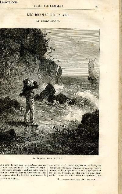 Le musée des familles - lecture du soir -  livraisons n°41 et 42 - Les drames de la mer - Le garde-côtes par Etienne Marcel,à suivre.