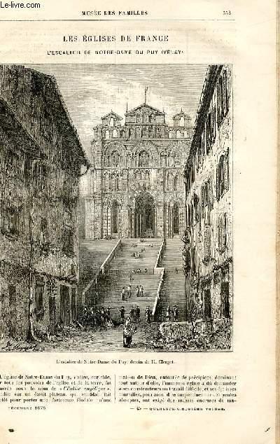 Le musée des familles - lecture du soir -  livraisons n°45,46,47 et 48- Les églises de France - l'escalier de Notre du Puy (Velay) par A.S.