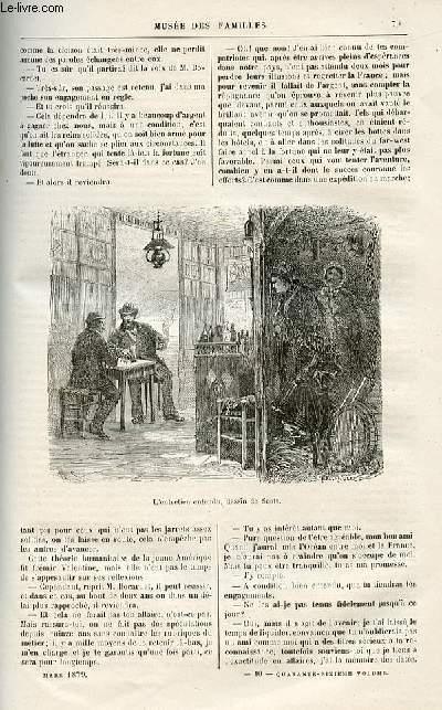 Le musée des familles - lecture du soir -  livraisons n°10 , 11 et 12-  Nouvelles - la pièce du procès par L. COllas,suite.