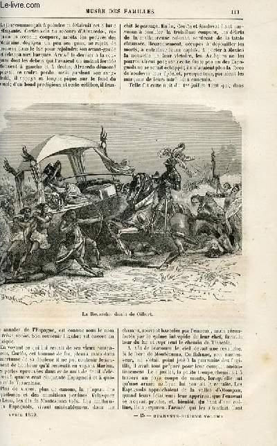 Le musée des familles - lecture du soir -  livraisons n°15 et 16 - Les révolutions d'autrefois - Fernand Cortès par Genevay,suite et fin.