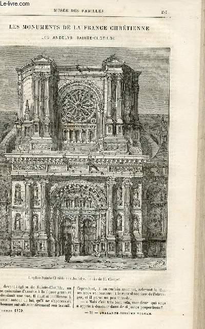 Le musée des familles - lecture du soir -  livraisons n°33 et 34 - Les monuments de la France chrétienne - Les Andelys - SAinte Clotilde par Surmay.