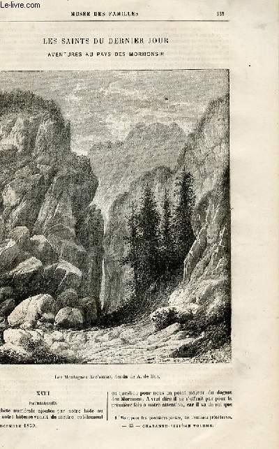Le musée des familles - lecture du soir -  livraisons n°45,46 et 47 - Les saints du dernier jour - aventures au pays des Mormons par Muller,suite et fin.