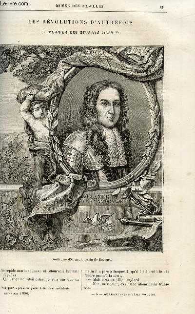 Le musée des familles - lecture du soir -  livraison n°05 - Les révolutions d'autrefois - le dernier des Stuarts (1688), suite par Genevay.