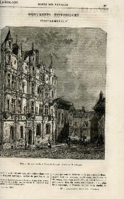 Le musée des familles - lecture du soir -  livraisons n°13 et 14 - Monuments historiques - Paray Le Monial par Surmay.