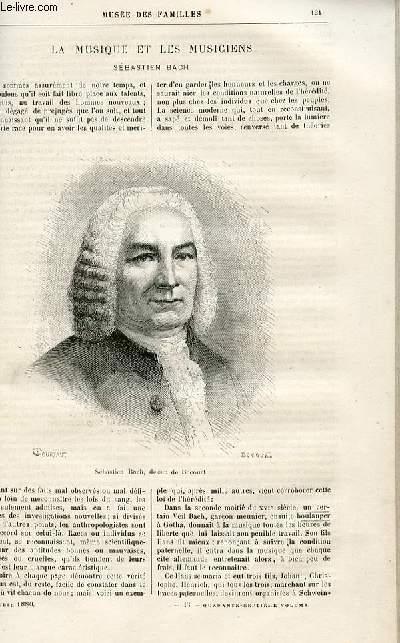Le musée des familles - lecture du soir -  livraison n°16 - La muisque et les musiciens - Sébastien Bach par J. de Lestang.