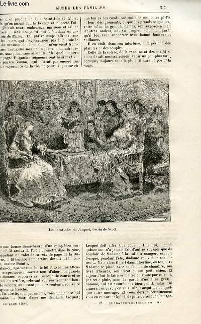 Le musée des familles - lecture du soir -  livraison n°28 - Nouvelles - Page et Perroquet par Etienne MArcel,suite et fin.