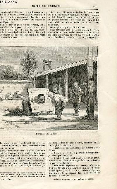Le musée des familles - lecture du soir -  livraisons n°30 et 31 - Voyages et fantaisies - Mémoires d'un mandarin par Muller,suite.