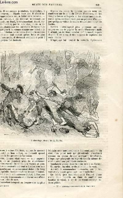 Le musée des familles - lecture du soir -  livraison n°32 - Nouvelles - Le mousse Loetaré par Aimé Giron,suite.