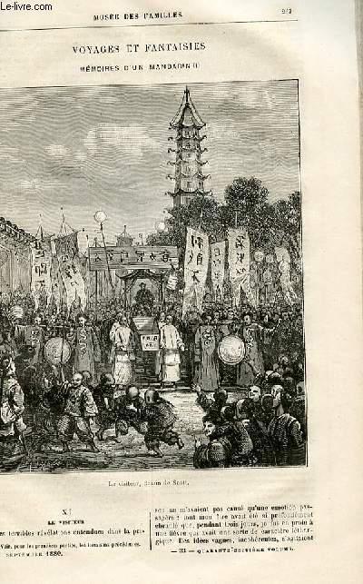 Le musée des familles - lecture du soir -  livraisons n°33 et 34 - Voyages et fantaisies - Mémoires d'un mandarin par Muller,suite.