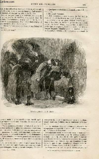 Le musée des familles - lecture du soir -  livraisons n°39 et 40-  Variétés - une aventure de Samuel Johson par G. Grand,suite.