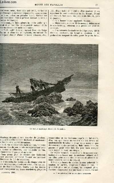 Le musée des familles - lecture du soir -  livraisons n°02 et 01 -  Voyages et aventures - Perdus dans la mer de Corail par Dubarry,suite (voir livraisons 4 et 3).