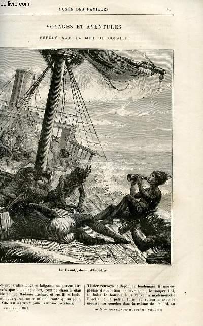 Le musée des familles - lecture du soir -  livraisons n°05 et 06 - Voyages et aventures - Perdus dans la mer de Corail par Dubarry,suite.