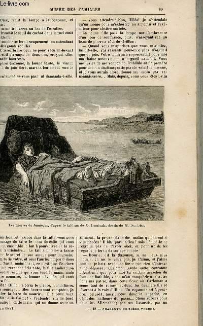 Le musée des familles - lecture du soir -  livraison n°12 - Récits historiques - Les mystères de Jumièges par R. De NAvery,suite.