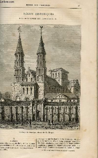 Le musée des familles - lecture du soir -  livraisons n°13,14 et 15 - Récits historiques - Les mystères de Jumièges par R. De NAvery,suite et fin.
