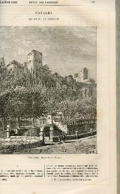 Le musée des familles - lecture du soir -  livraisons n°17,18 - Voyages - Grenade et Séville par Victor Fournel,à suivre.