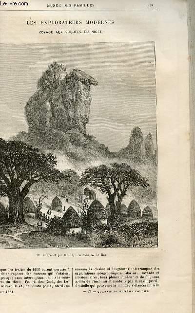 Le musée des familles - lecture du soir -  livraisons n°29 et 30 - Les explorateurs modernes - Voyage aux sources du Niger par Alexandre de Bar.