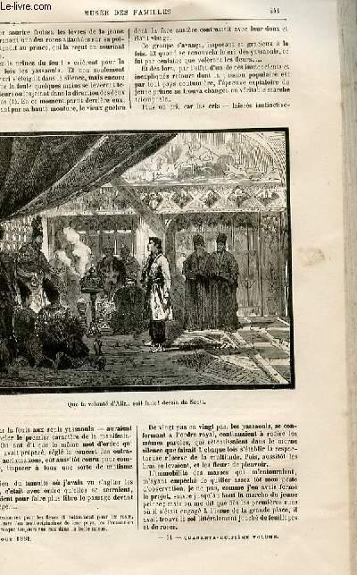 Le musée des familles - lecture du soir -  livraisons n°31 et 32 - Voyages et aventures - Le prince du feu (histoire persane),suite.