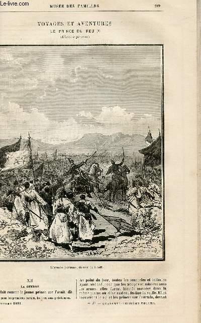 Le musée des familles - lecture du soir -  livraisons n°37 et 38 - Voyages et aventures - Le prince du feu (histoire persane),suite.