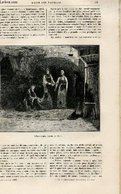 Le musée des familles - lecture du soir -  livraisons n°43 et 44-  Voyages et aventures - Le prince du feu (histoire persane),suite et fin.