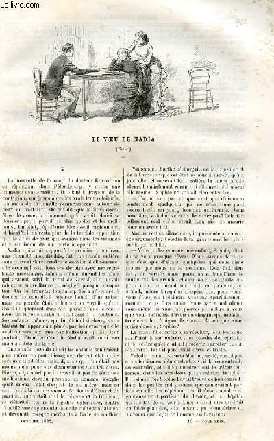 Le musée des familles - lecture du soir -  livraison n°19- 20 LE VOEU DE NADIA