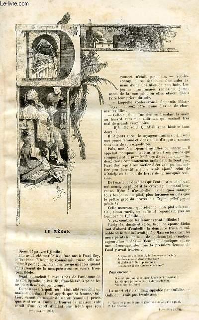 Le musée des familles - lecture du soir -  livraisons n°01 et 02 - Le mérak par Leïla Hanoum.