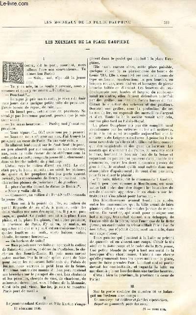 Le musée des familles - lecture du soir -  livraison n°24 - Les moineaux de la place Dauphine par Sixte Delorme.
