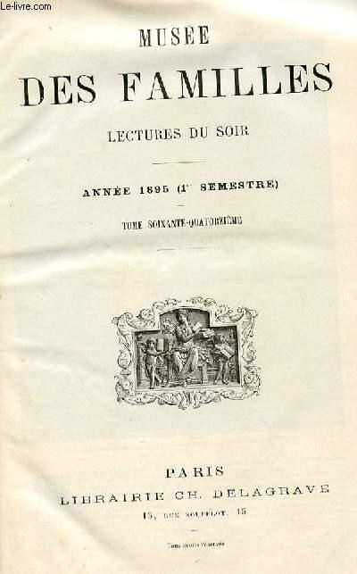 Le musée des familles - lecture du soir -  livraison n°01 à 24 PREMIER SEMESTRE