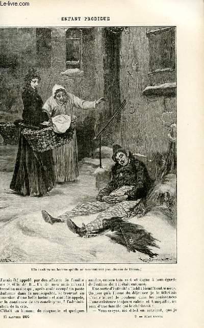 Le musée des familles - édition populaire hebdomadaire -  livraison n°03 - Sylvestre et Jeannine par A. Dourliac.