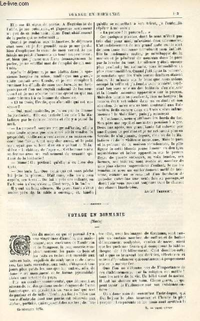 Le musée des familles - édition populaire hebdomadaire -  livraison n°08