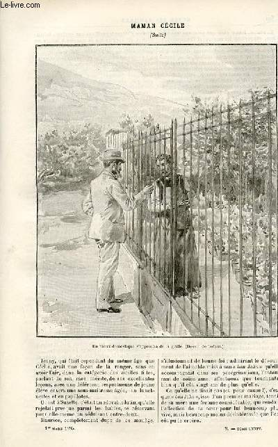 Le musée des familles -édition populaire hebdomadaire-  livraison n°09 - Le lion de Camors,suite par Louis de Carters.